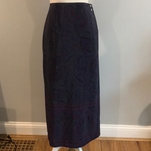 Coldwater Creek Paisley Wrap Skirt XL